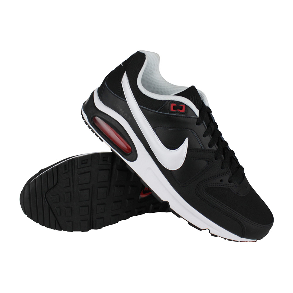 73c4086a17b Nike Air Max Command Leather heren fitnessschoenen zwart/wit/rood ...